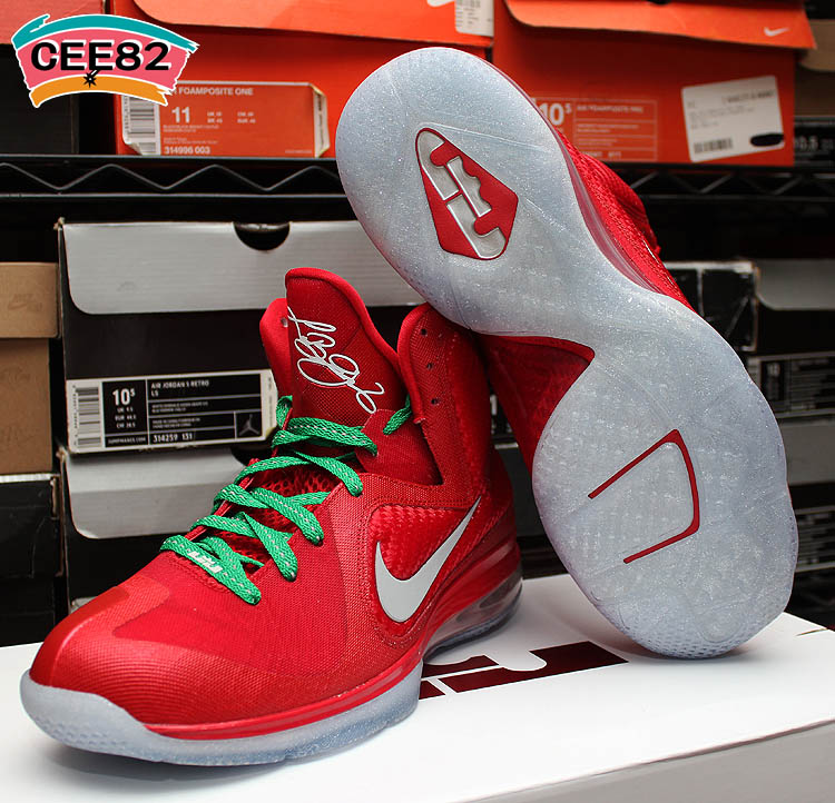 sports shoes b9d7d 50286 750 × 722 in Nike LeBron 9 – Christmas