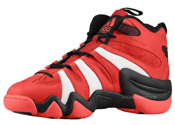 wholesale dealer f6795 99b78 adidas crazy 8 black and red