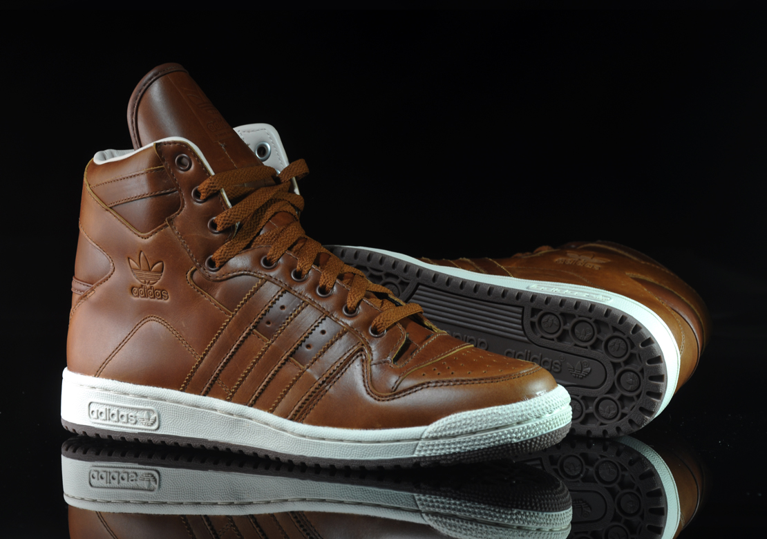 adidas leather shoes brown