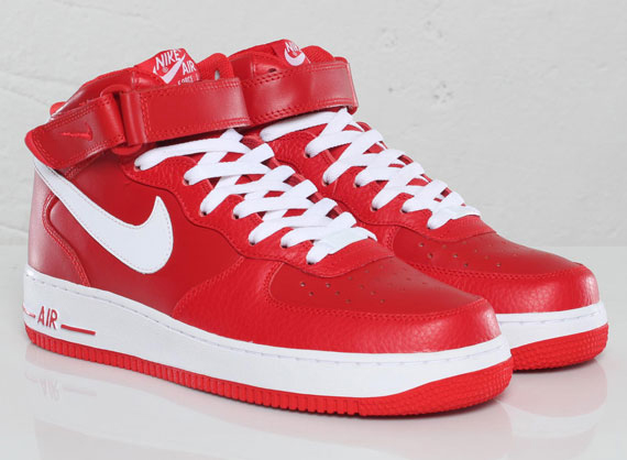 nike air force 1 mid 07 sport red white