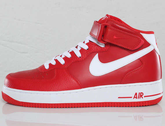 new concept f718b 22999 Nike Air Force 1 Mid – Sport RedWhite